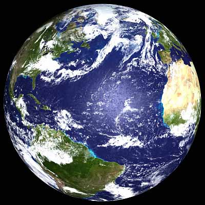 Earth from outer space. NASA