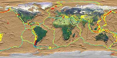 Tectonic plate boundaries, NASA