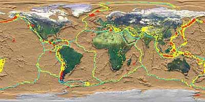 Tectonic plate boundaries, NASA