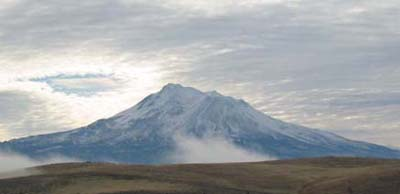 Mount Shasta is a composite volcano. Photo by Myrna Martin