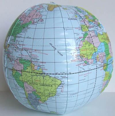 Earth science activity, Globe Toss, Photo by Myrna Martin