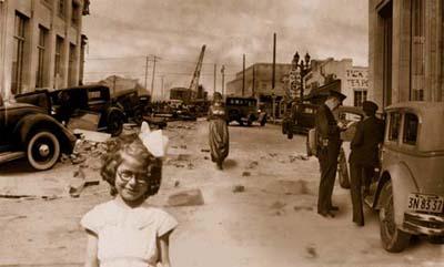 Long Beach, California after an earthquake in 1933.USGS