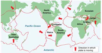 Earth's major crustal plates, USGS