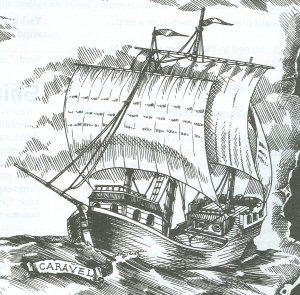 Caravel, sailing ships used by explorers