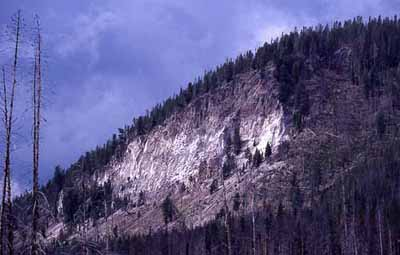 Tuff Cliff at Yellowstone Park, USGS