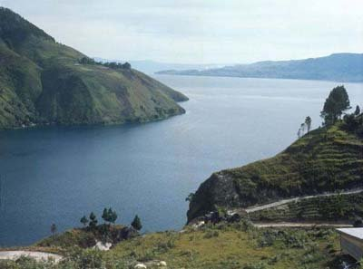 Lake Toba site of a super volcanic eruption. Photo provided by Tropen Museum