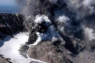 Lava dome growing inside Mount Saint Helens caldera. USGS
